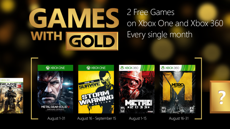 Xbox Live's Games With Gold – August 2015