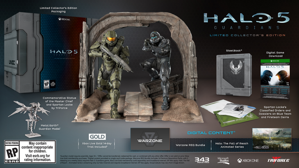 Halo 5 LCE to Include Physical Copy Shall You Want It