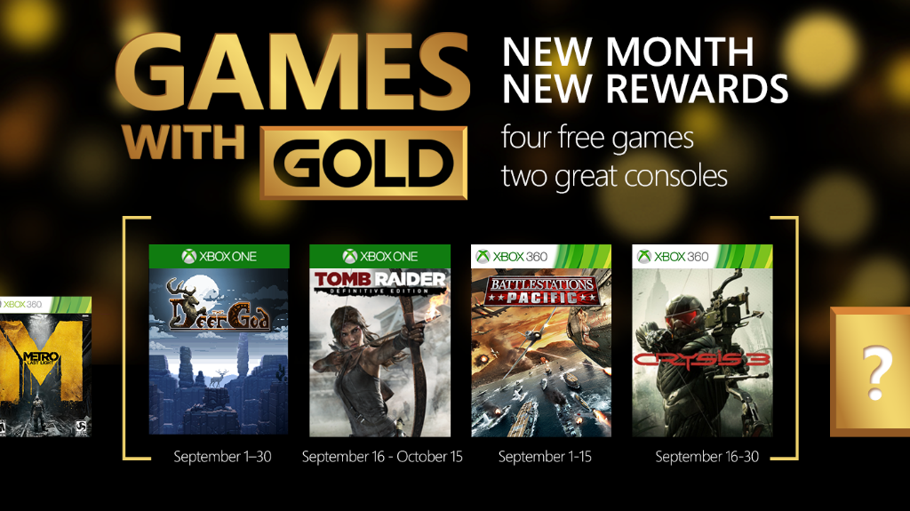 Xbox Live's Games With Gold – September 2015