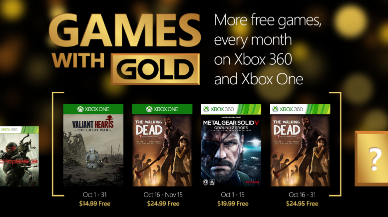 Xbox Live's Games With Gold – October 2015