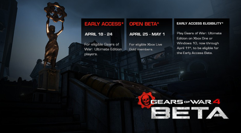 Gears of War 4 Beta Coming April 18th