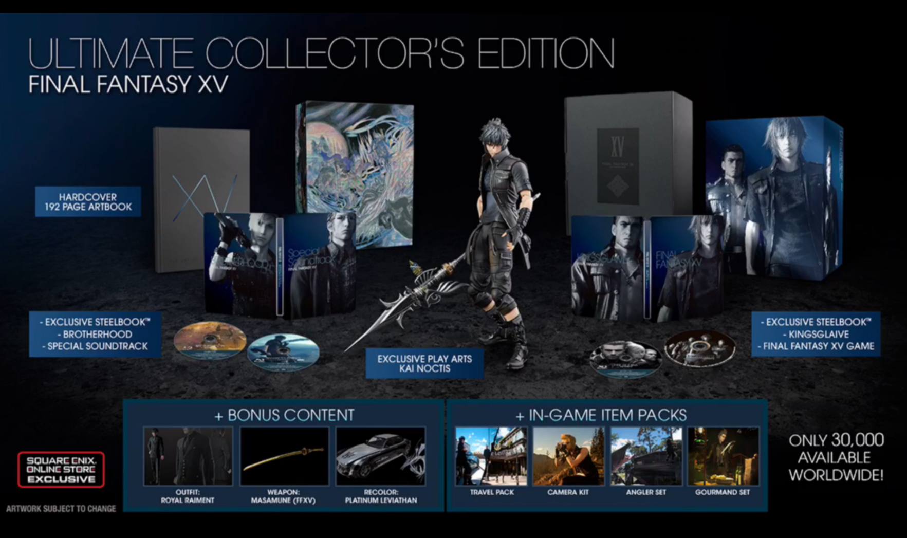 Final Fantasy XV Collector's Editions Announced
