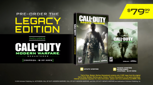 Call of Duty: Infinite Warfare & Modern Warfare Remastered Officially Announced