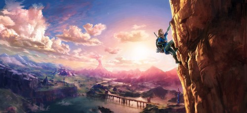 Zelda Wii U Promotional Artwork Leaked; Possible Rock Climbing Mechanic