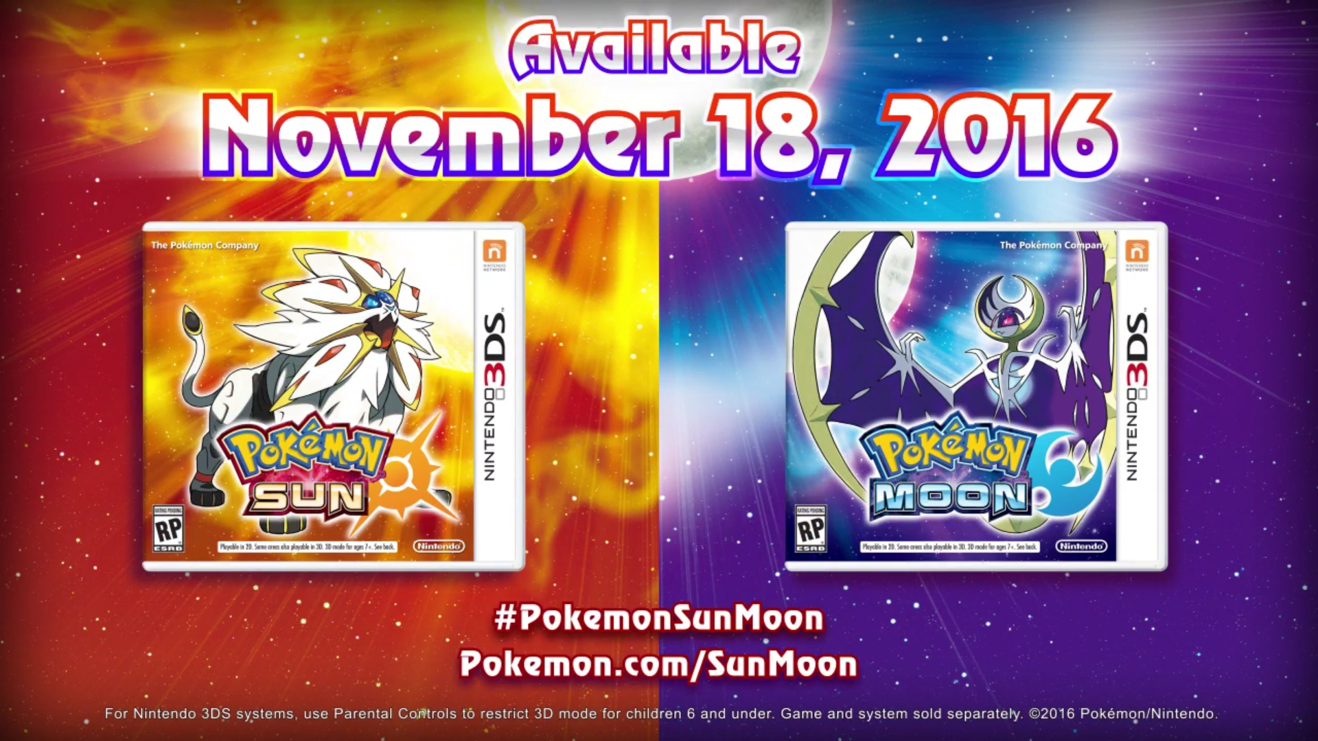New Pokemon Sun & Moon Trailer Shows Off Legendary Pokemon
