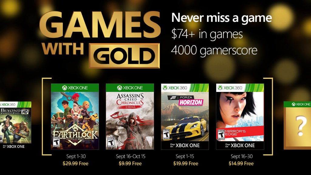 Xbox Live's Games With Gold – September 2016