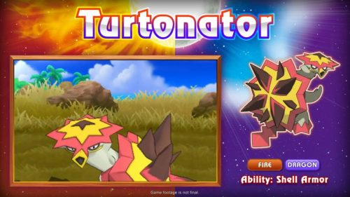 New Pokemon Revealed At Gamescom For Pokemon Sun & Moon: Tortunator