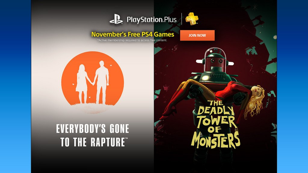 Playstation Plus Free Games – November 2016