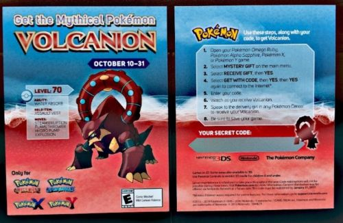 Pokemon Distribution For Volcanion Is Now Live
