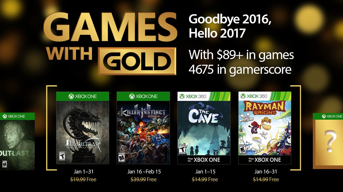 Xbox Live's Games With Gold – January 2017