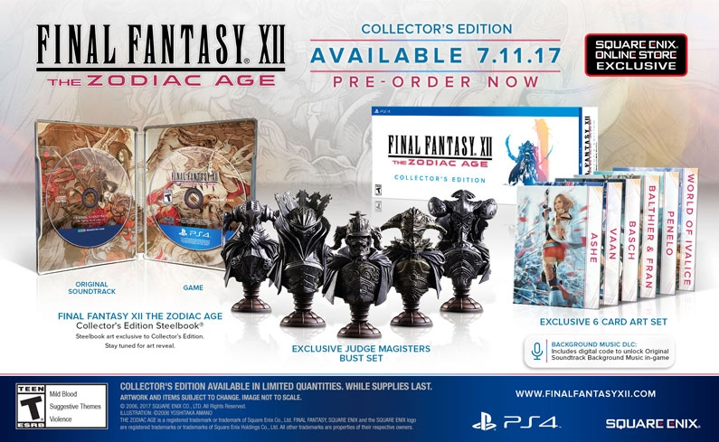 Square Enix Saturdays: Square Enix Announces Final Fantasy XII: The Zodiac Age Collector's Edition, but will it deliver?