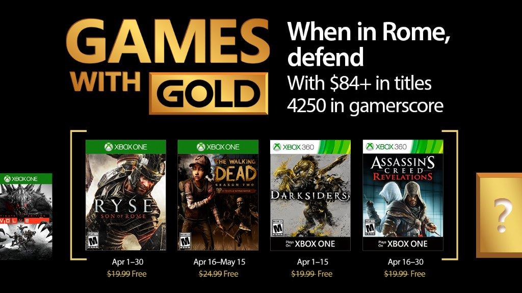 Xbox Live's Games With Gold – April 2017