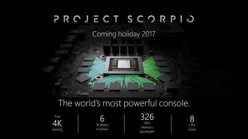 Project Scorpio Specifications Revealed