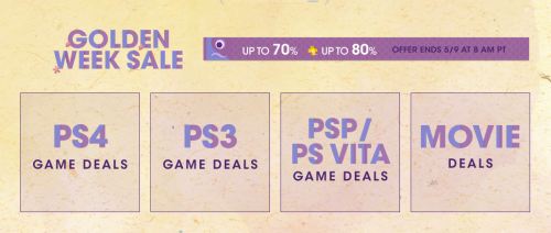 Getting Games Cheap: Playstation's Golden Week Sale