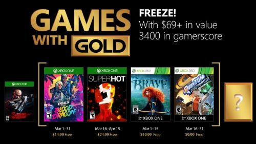 Xbox Live's Games With Gold – March 2018