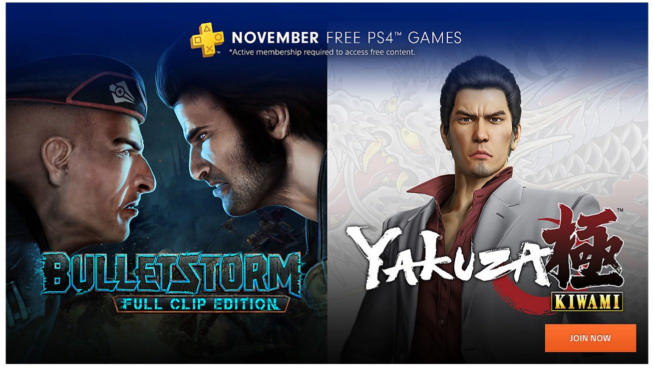 November's Playstation Plus Free Games Accidentally Revealed