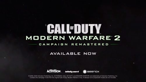 Call of Duty: Modern Warfare 2 Remastered Campaign Out Now On PS4