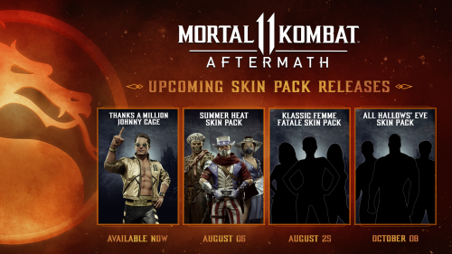 Mortal Kombat 11: Aftermath Summer Skin Pack Announced